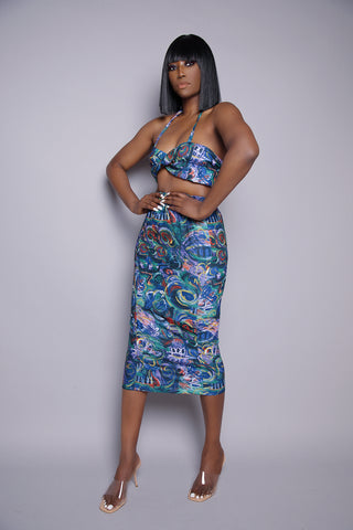 Iniko High Waisted Midi Print Skirt *LIMITED EDITION*