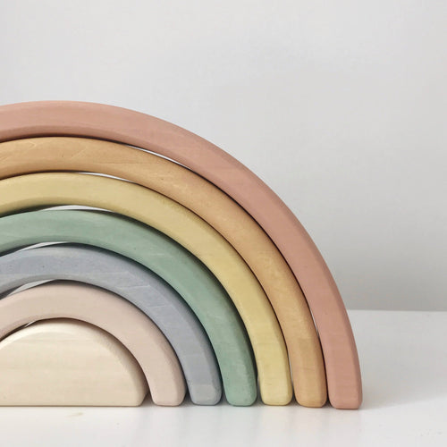 Eco Wooden Rainbow - Pastel