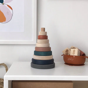 Eco Wooden Pryamid Stacker