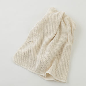 The perfect gift for the new baby in your life. A beautiful, 100% cotton knit blanket by Fog Linen Works.