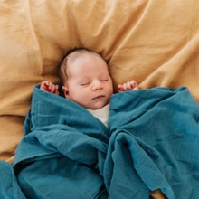 ORGANIC BABY SWADDLE & WRAP - Blue