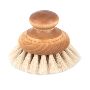 Perfect bathroom accessory, sustainable, stylish and practical. Produced by Iris Hantverk in Sweden this bath brush is made from oil treated maple and horse hair.