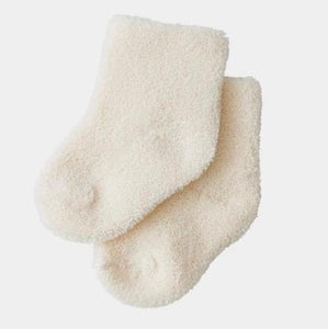 Fog Linen Baby Socks - Cream
