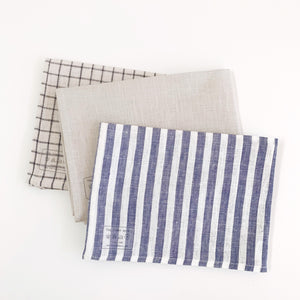 Linen Kitchen Towel - Cream Check