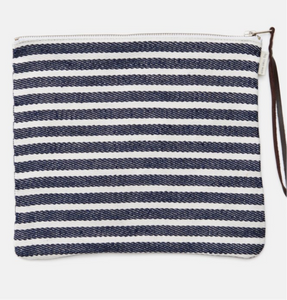 100% Linen Stripe Bag