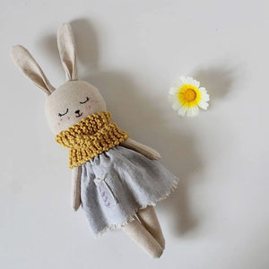 Organic Linen & Cotton Rabbit Blue