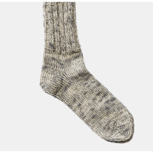 Moon Grey Cotton & Linen Blend Socks