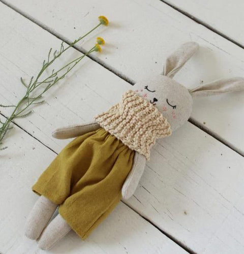 Organic Linen & Cotton Rabbit - Mustard