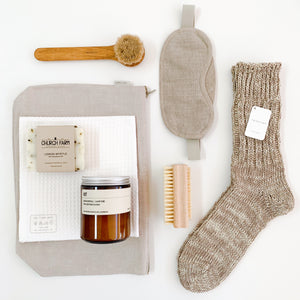 Cream Cotton & Linen Blend Socks