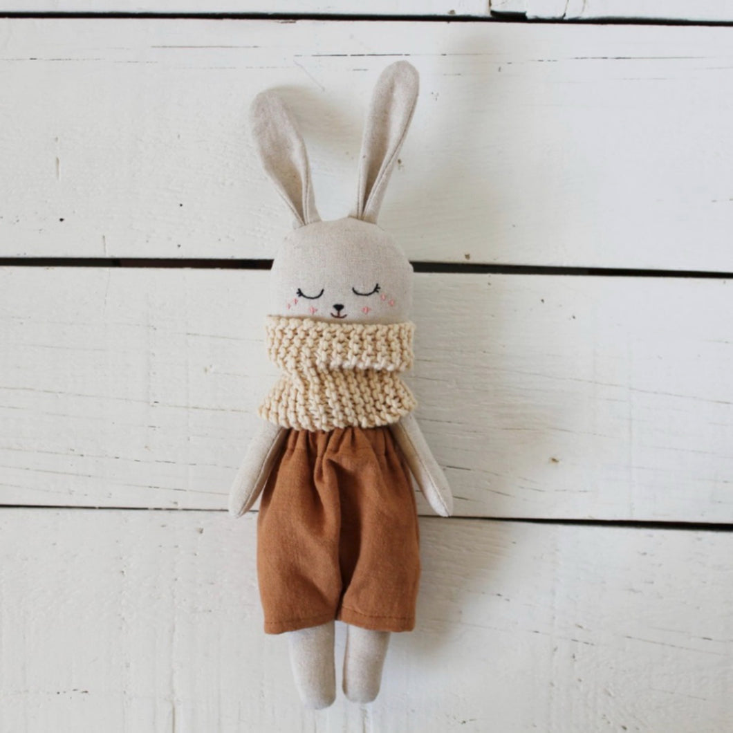 Organic Linen & Cotton Rabbit - Brown