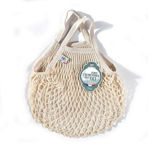 Small French Market Bag - Cream