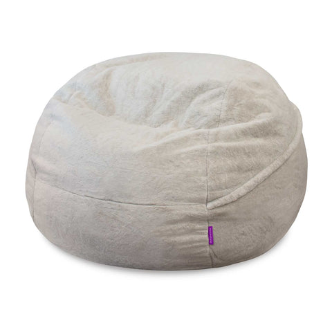 White Fur 4ft Memory Foam Bean Bag