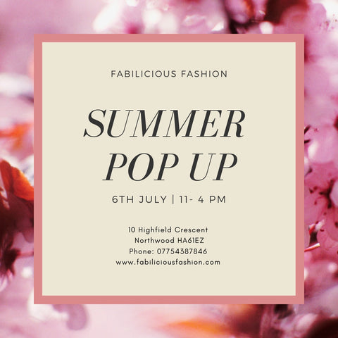 Fabilicious Summer Pop Up