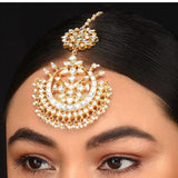 2 Piece Bridal Maang Tikka With Pearls Head Sets Riana by Shikha Jindal