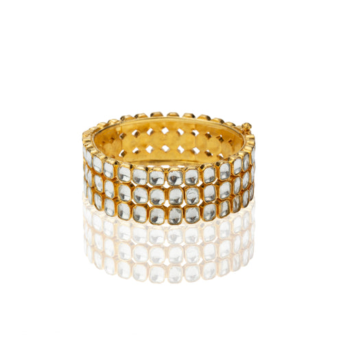 3 Line White Stone Bangles Bangle Riana by Shikha Jindal