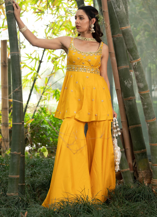 Aabira Sharara Set Suits Rashika Sharma