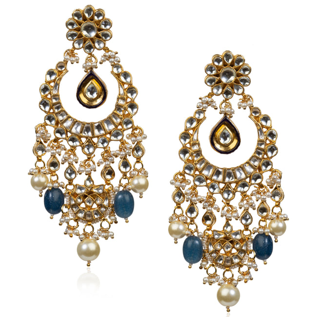 Blue Small Stone Necklace Set Necklace Set Riana by Shikha Jindal
