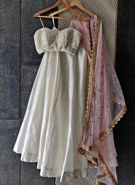 Blush pink Ruffle Net saree with Blush Pink Embroidered Blouse