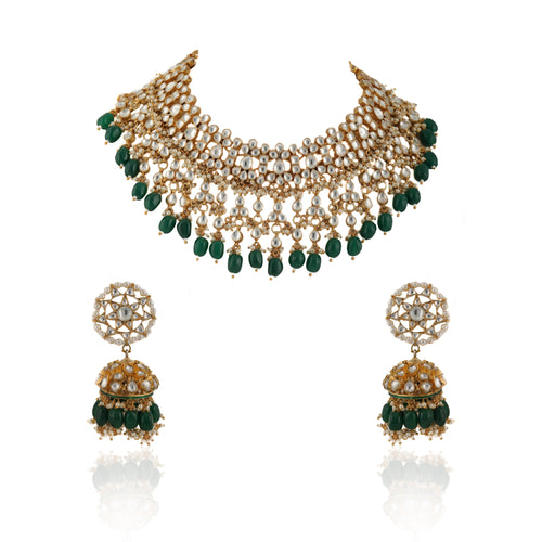 Choker Set With Star Shaped Jhumki Necklace Set Riana by Shikha Jindal