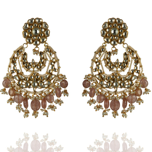 Earrings With Pink Hangings Earrings Riana by Shikha Jindal