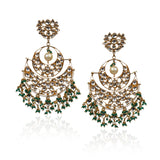 Green Chand Baali Earrings Earrings Riana by Shikha Jindal
