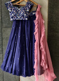 Midnight Blue Stone Work Lehenga Set Lehenga Priti Sahni