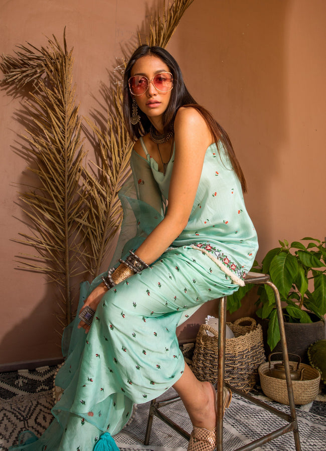 Mint and Cherries Dhoti Set Suits The Little Black Bow