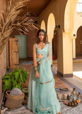 Mint Ruffle Cherry Lehenga Lehenga The Little Black Bow