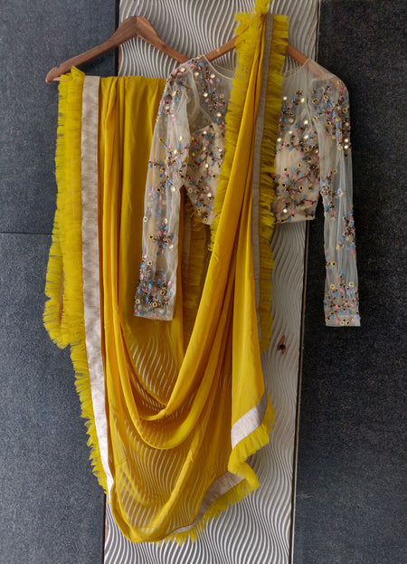 Sunflower Saree Set
