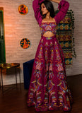 Purple Embroidered Jumpsuit Fusion Juhi Bengani