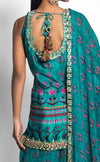 Rama Green Printed Sharara Set Suits Juhi Bengani