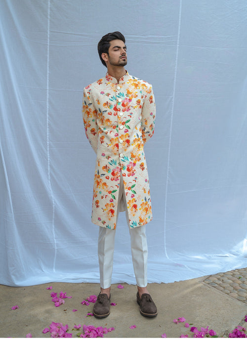 Summer Floral Kurta Set Men Chatenya Mittal