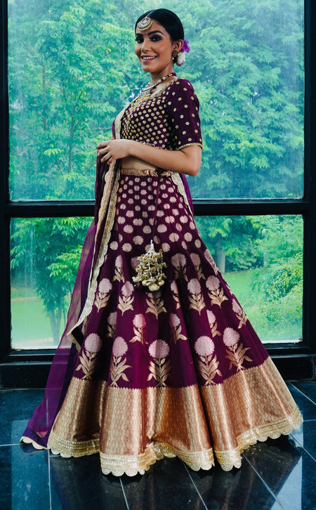 Rose Gold Evie Lehenga Set