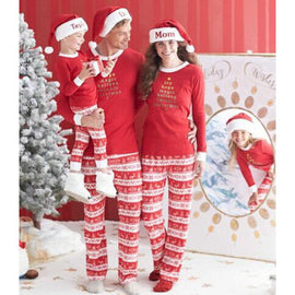 2017 Winter Family Christmas Pajamas For Mother Father & Son.