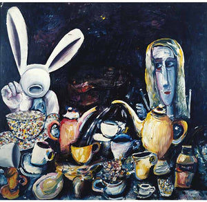 At The Tea Party - Print - Charles Blackman