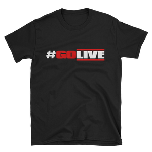 Short-Sleeve Unisex T-Shirt (GO LIVE-black)