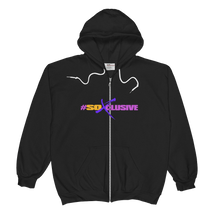 Unisex  Zip Hoodie (SO XCLUSIVE-black)