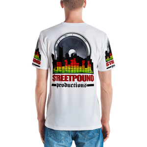 Men's T-shirt ALL OVER (STREET POUND-white)