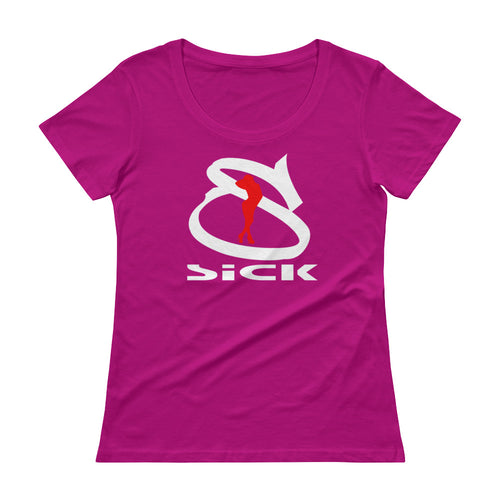 Ladies' Scoopneck T-Shirt / SiCK (Big S)
