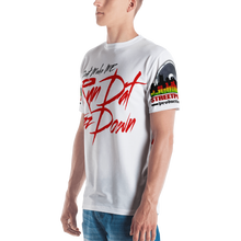 Men's T-shirt ALL OVER (RUN DAT-white)