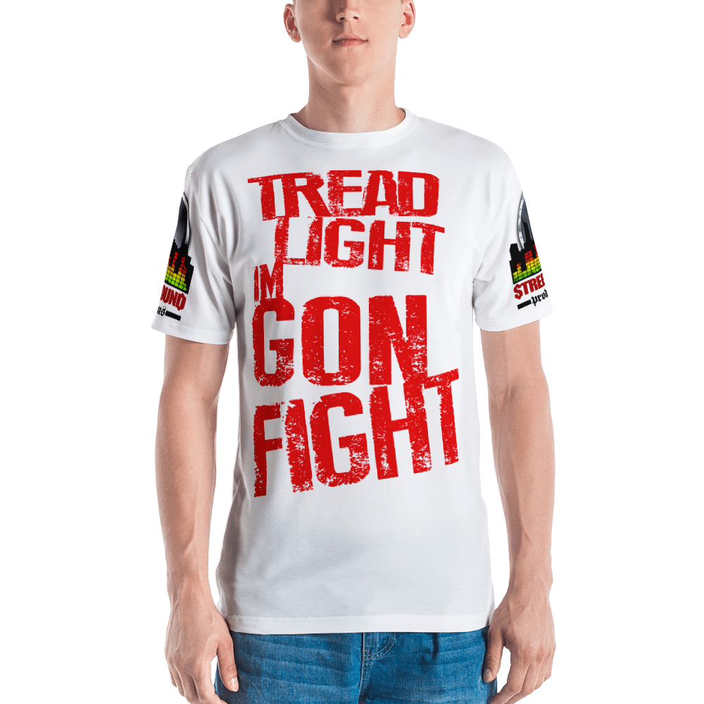 Men's T-shirt ALL OVER (I'M GON FIGHT-white)