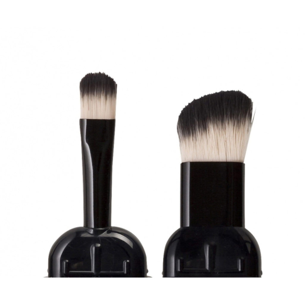 CHEEK & SHADOW BRUSH DUET + TRAVEL CAPS - VEGAN