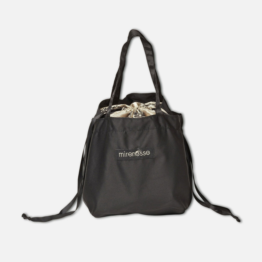 Luxury Satin Drawstring Skincare Bag - Vegan
