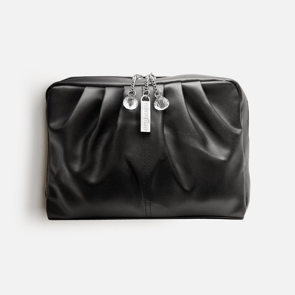 DIAMOND DROPS BOUTIQUE BAG BLACK - VEGAN LEATHER