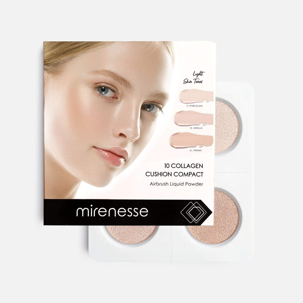 NEW 4PCE STARTER COLLAGEN CUSHION FOUNDATION - LIGHT