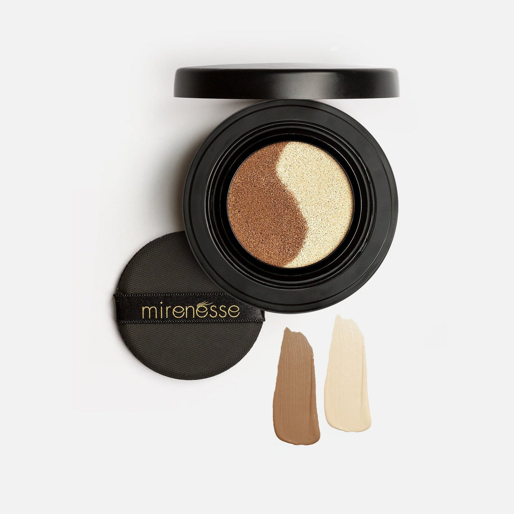 CONTOUR DUO- 10 COLLAGEN FACE GLOW CUSHION COMPACT HIGHLIGHTER BRONZER