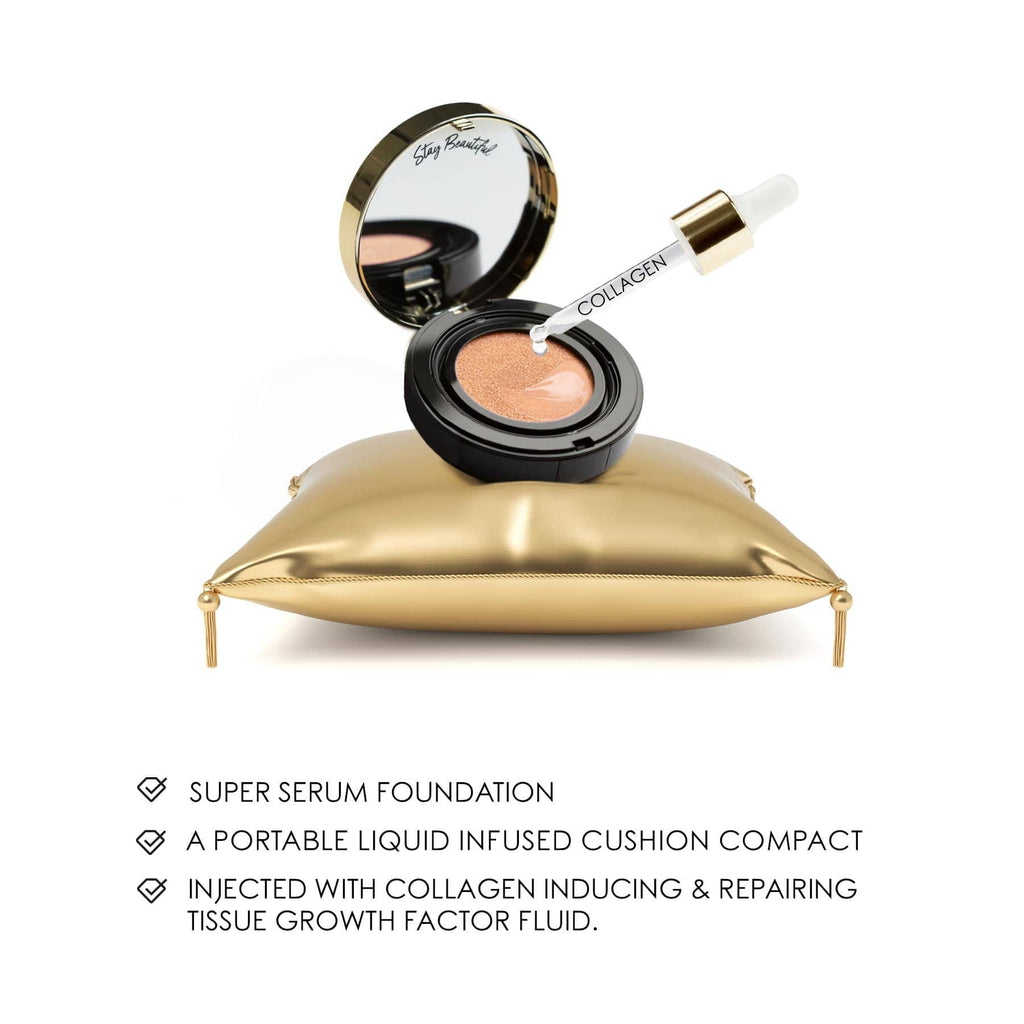 PR KIT - 10 COLLAGEN CUSHION FOUNDATION  MEDIUM TO DARK 5PCE