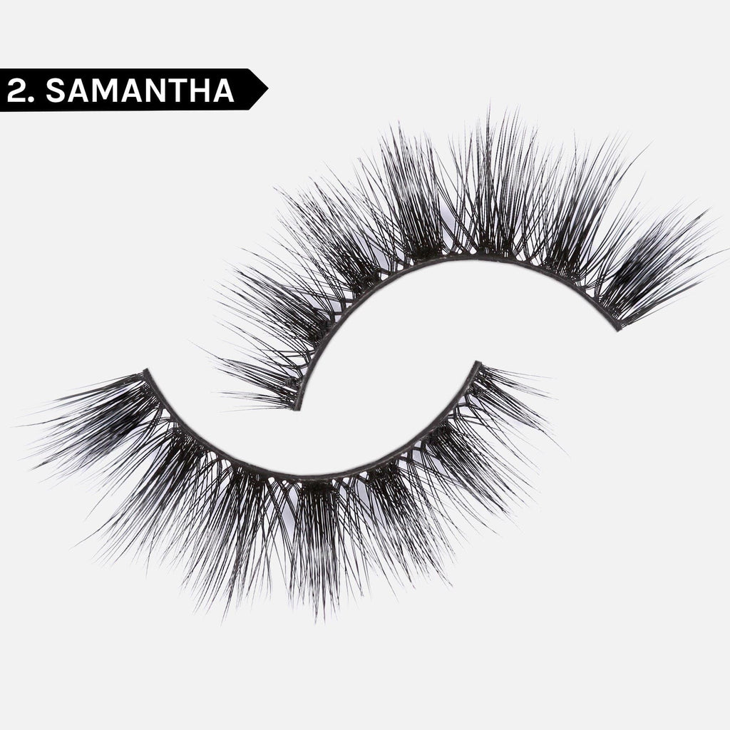 LASH BOND - FOR ALL FAKE LASHES JET BLACK- SET 2. SAMANTHA FAUX MINK