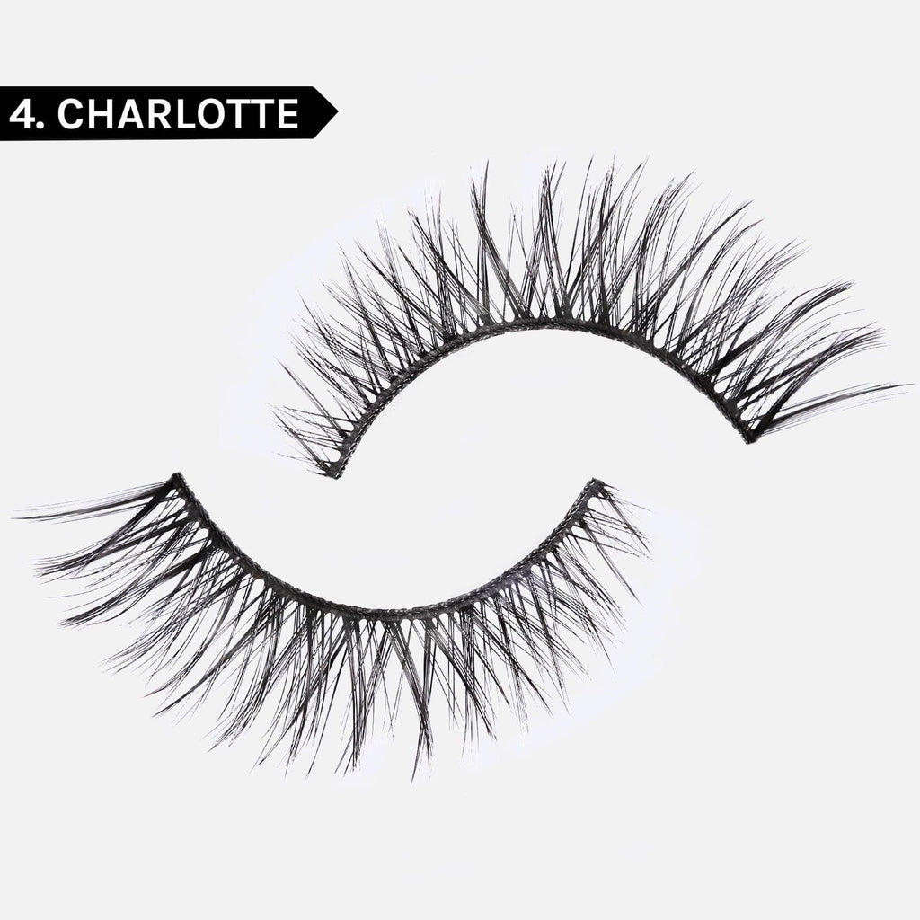 LASH BOND - FOR ALL FAKE LASHES JET BLACK- SET 4. CHARLOTTE FAUX MINK