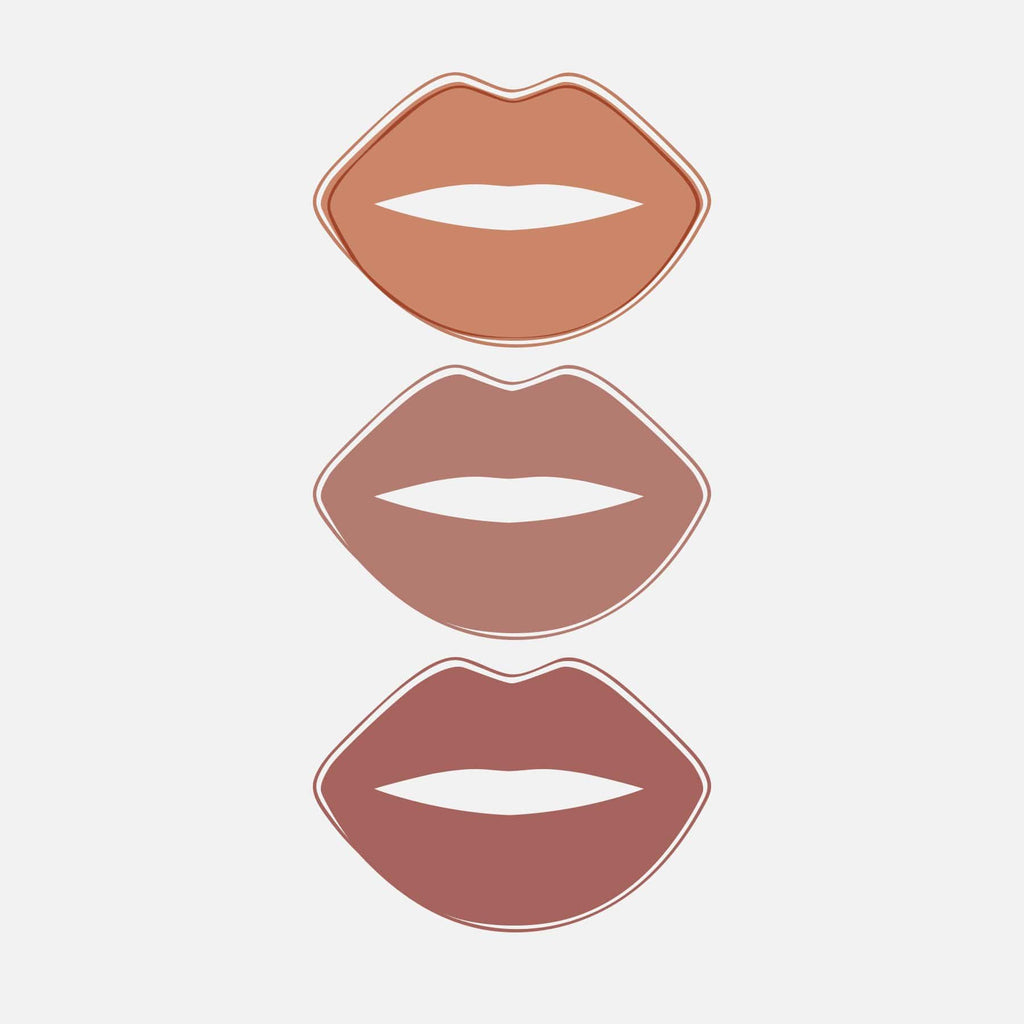 Nude Kiss All Day Velvet Matte 3pce Lip Kit